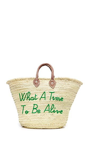 Poolside Bags What a Time To Be Alive Tote - Forest