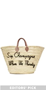 Sip Champagne When We Thirsty Tote Poolside Bags
