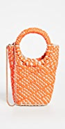 Poolside Bags Mixed Media Woven Tote