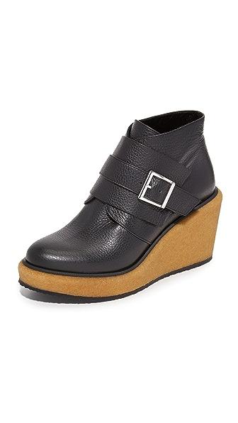 Paloma Barcelo Delaware Platform Booties - Black