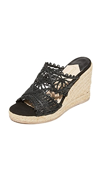 Paloma Barcelo Cecile Wedges In Black