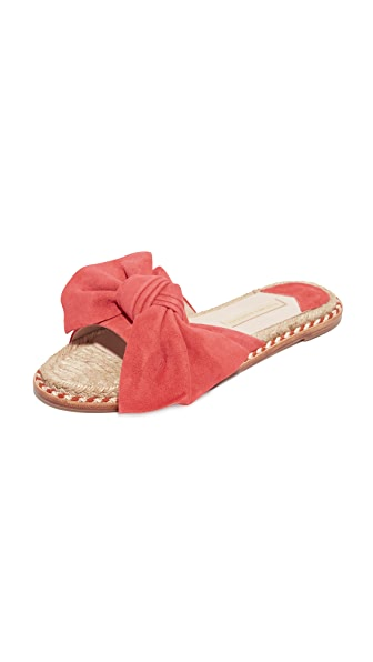 Paloma Barcelo Monte Carlo Bow Slides - Coral