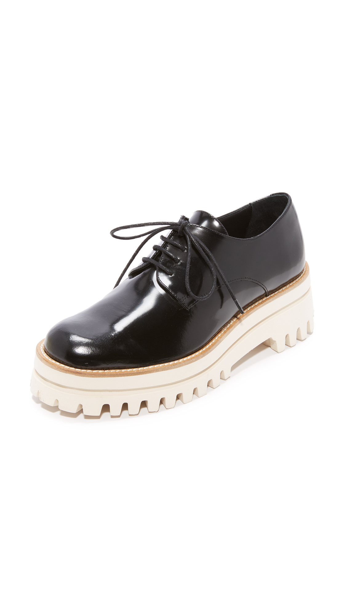 Paloma Barcelo Sunshine Platform Oxfords - Black