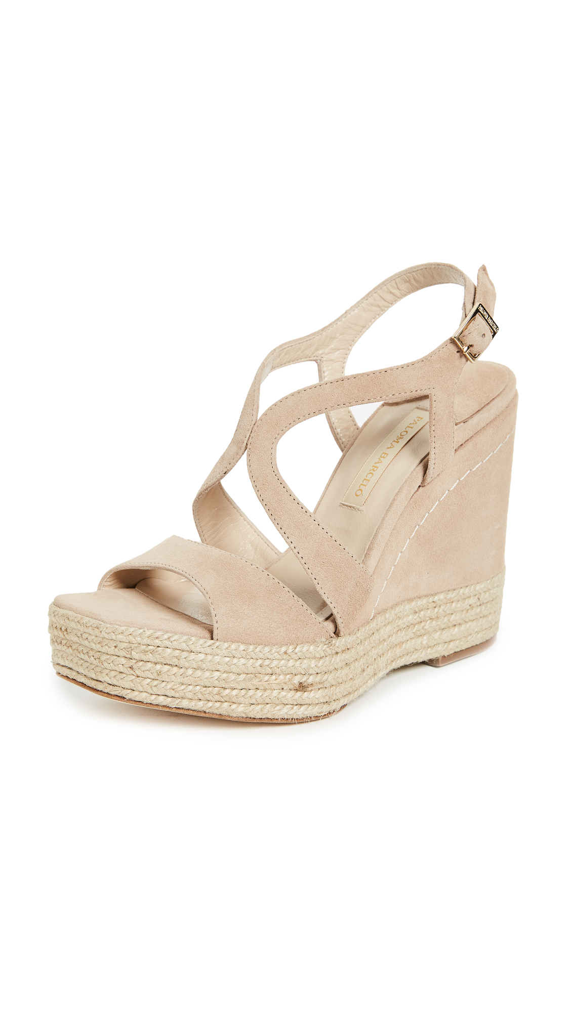 Paloma Barcelo Mafafa Wedge Sandals - Taupe