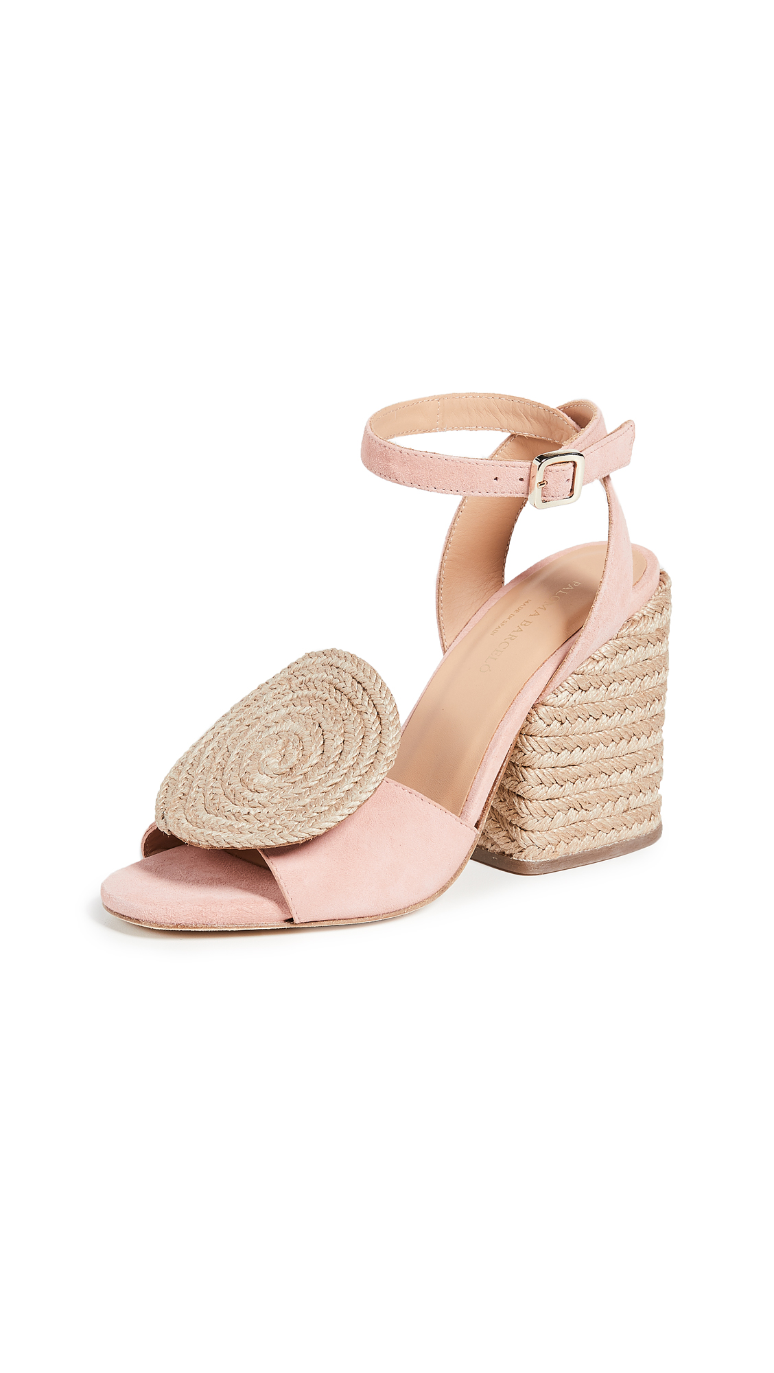 Paloma Barcelo Emi Circle Espadrille Sandals - Pink