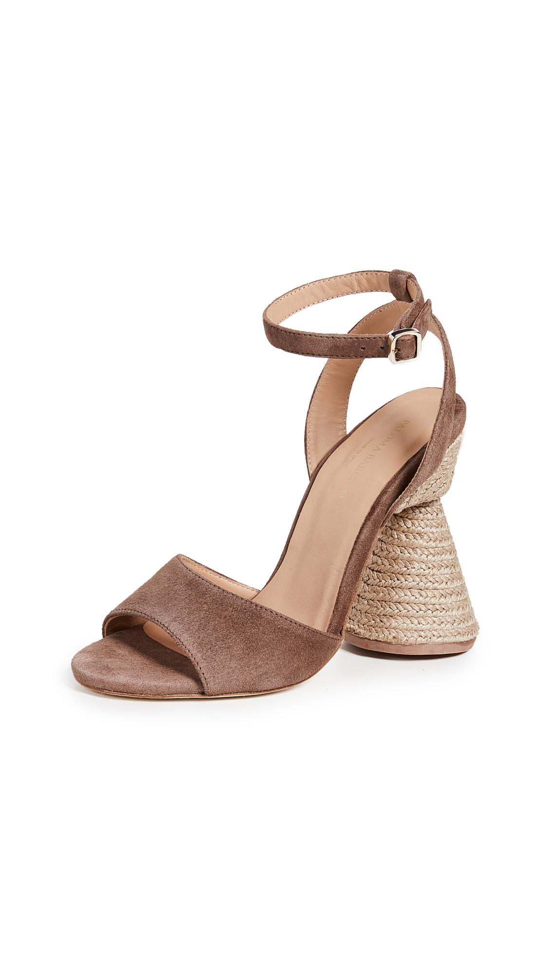 Paloma Barcelo Bilitis Cone Heel Sandals - Taupe