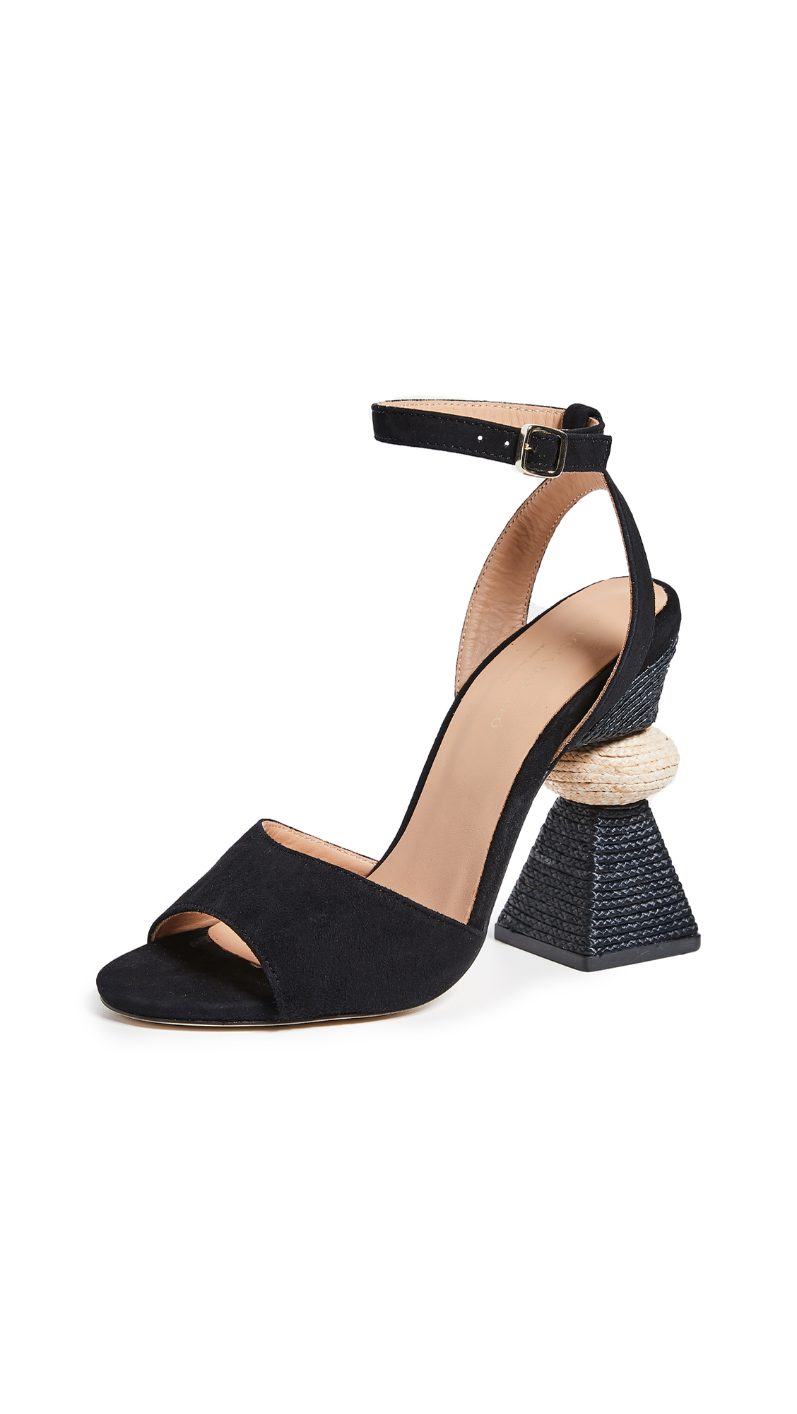 Paloma Barcelo Bibi Traingle Heel Sandals - Black