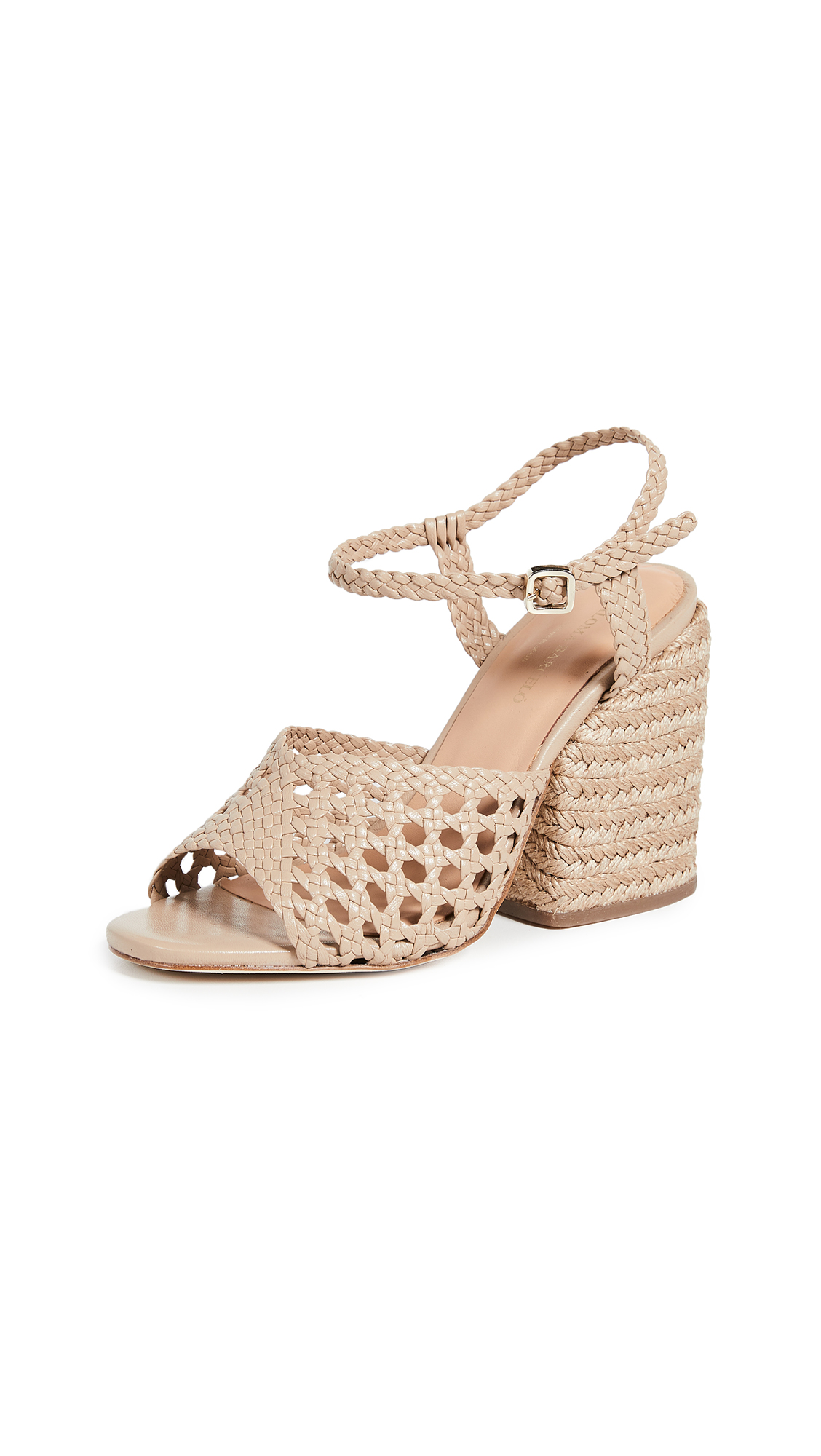 Paloma Barcelo Verane Woven Heeled Sandals - Taupe