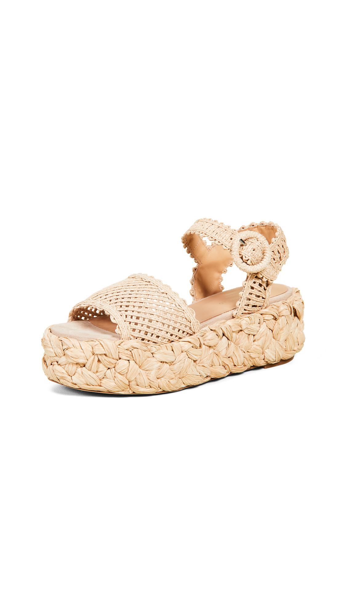 Paloma Barcelo Oda Sandals - Natural