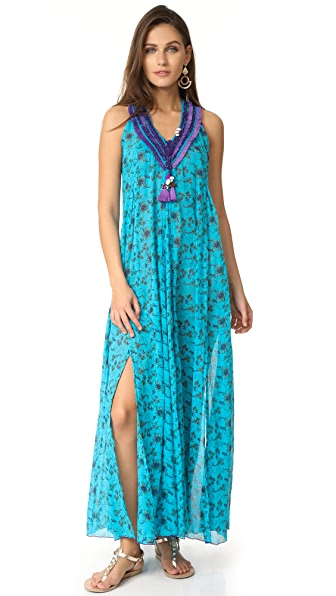 Poupette St Barth Blabla Long Dress - Scuba Blue