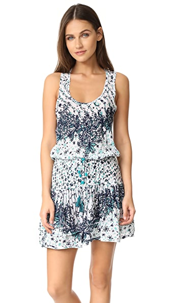 Poupette St Barth Kila Mini Dress - White Navy Galaxy