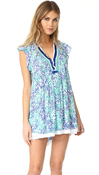 Poupette St Barth Sasha Mini Dress - Aqua