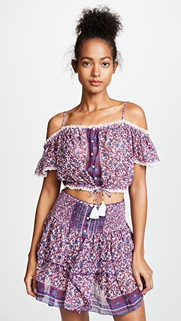 Poupette St Barth Honey Crop Top