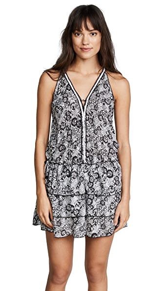 Poupette St Barth Bety Mini Dress In Black Lotus
