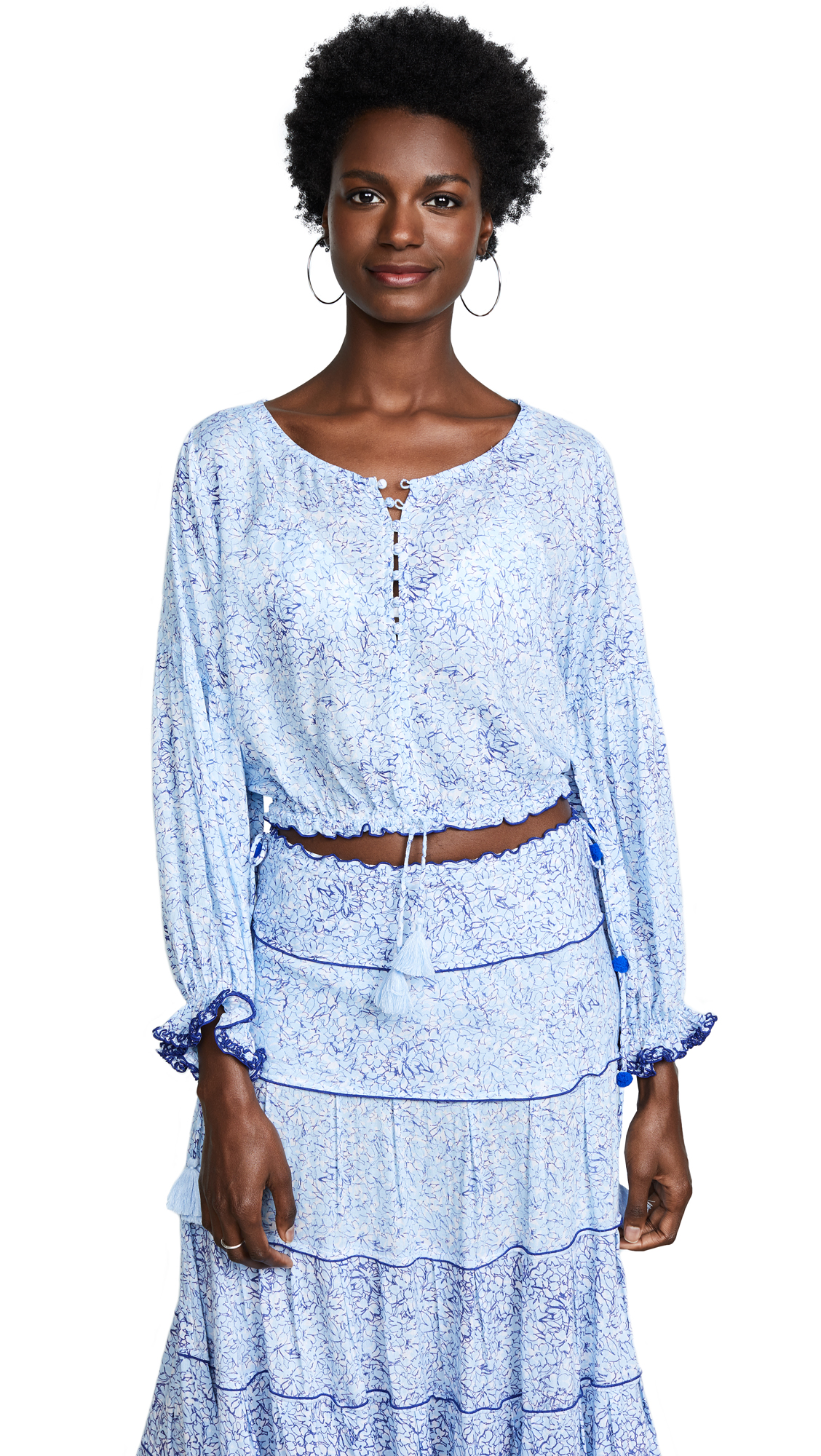 POUPETTE ST BARTH Betty Mini Top in Blue Joy