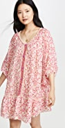 Poupette St Barth Poncho Bobo Ruffled Dress