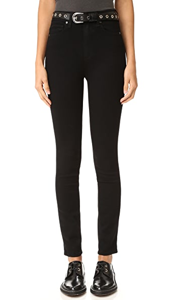 PAIGE Transcend Margot Ultra Skinny Jeans In Black Shadow