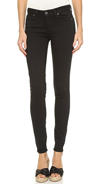 PAIGE Transcend Verdugo Ultra Skinny Jeans - Black Shadow