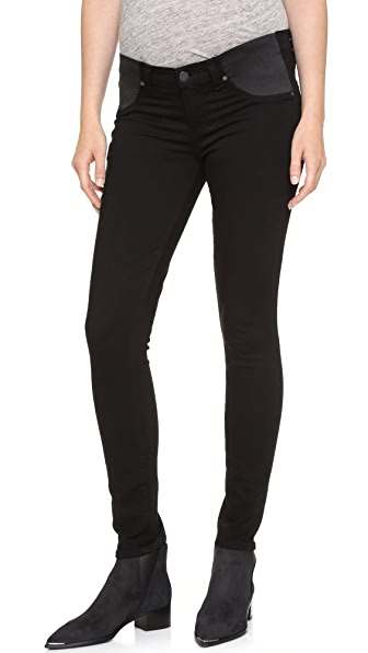 PAIGE Transcend Verdugo Ultra Skinny Maternity Jeans - Black Shadow