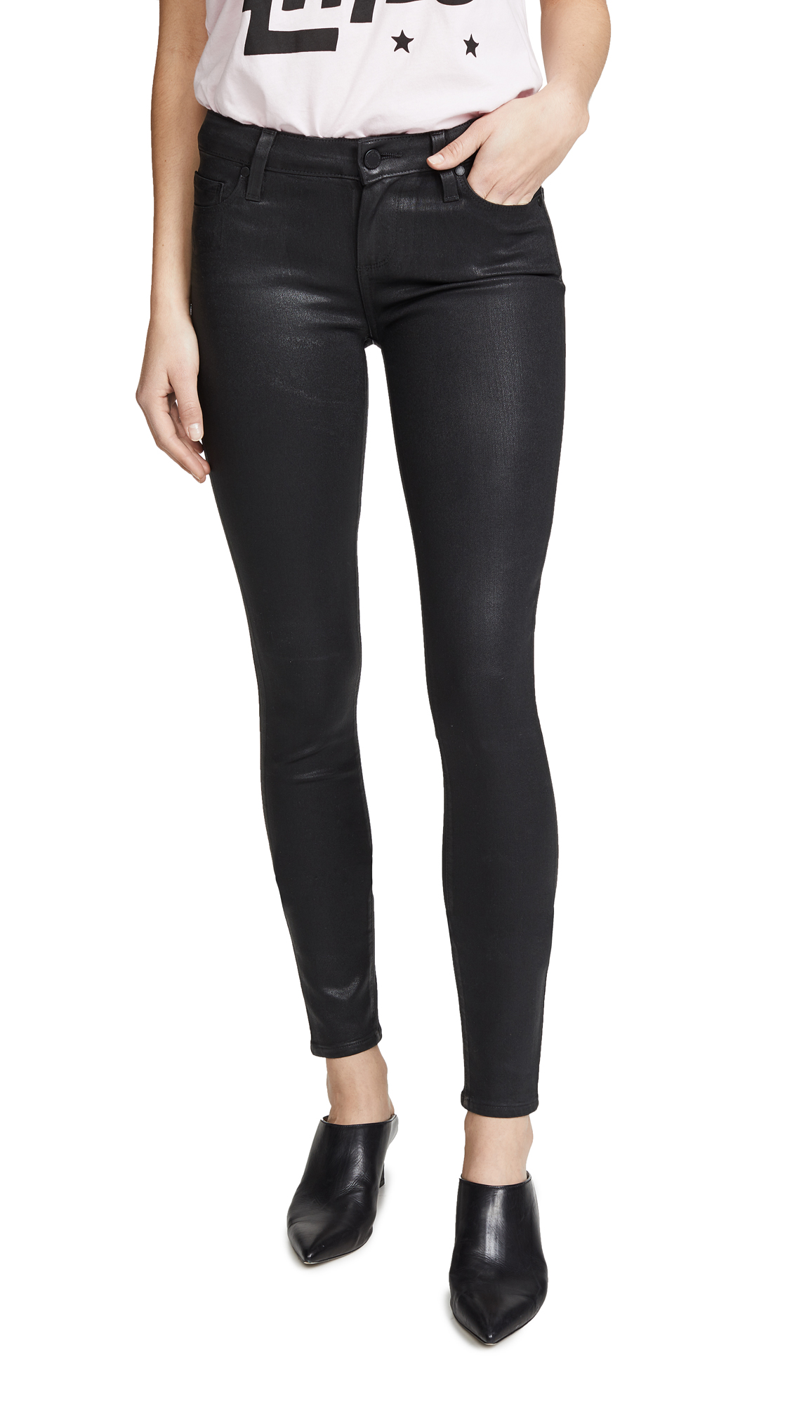 PAIGE Verdugo Ultra Skinny Jeans - Black Fog