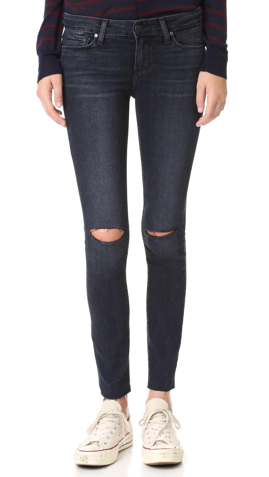 paige denim female paige verdugo ankle skinny jeans kaleea destructed