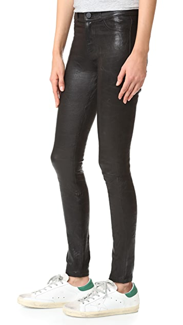 PAIGE Hoxton Stretch Leather Pants
