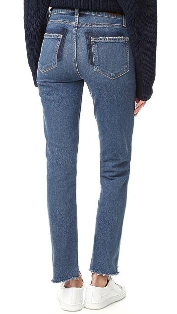 PAIGE Vintage Julia Jeans with Uneven Hem