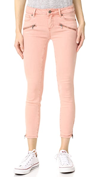 PAIGE Jane Zip Crop Jeans - Faded Petal Pink