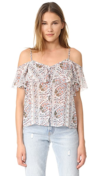 PAIGE Henna Top - Cream/Canyon