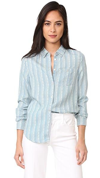 PAIGE Trista Shirt - Vineland Stripe