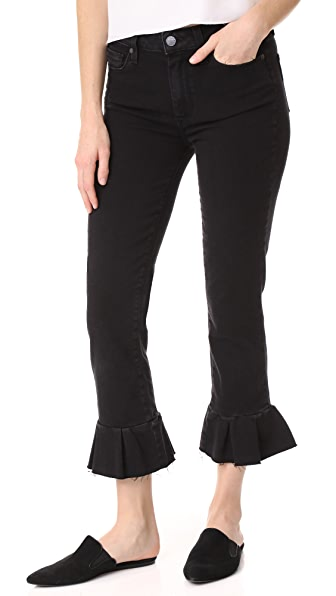 PAIGE Rafaela Jeans with Ruffle Hem In Joannie No Whiskers