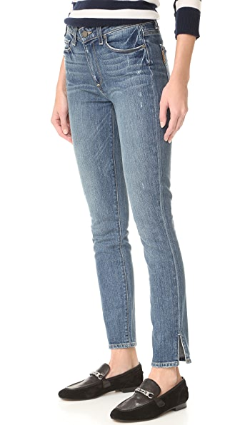 PAIGE Hoxton Ankle Peg Side Slit Jeans In Beachwood