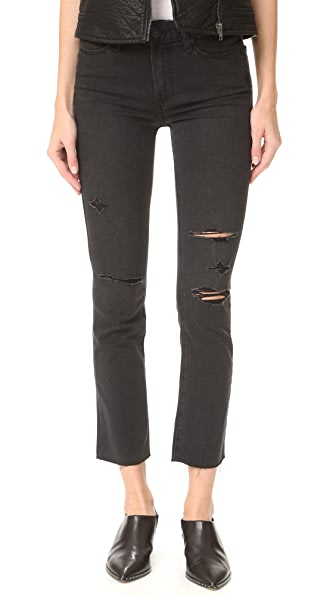 Jacqueline Straight Leg Jeans with Raw Hem