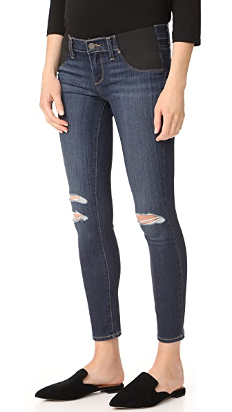 PAIGE Maternity Verdugo Ankle Skinny Jeans - Nia Destructed