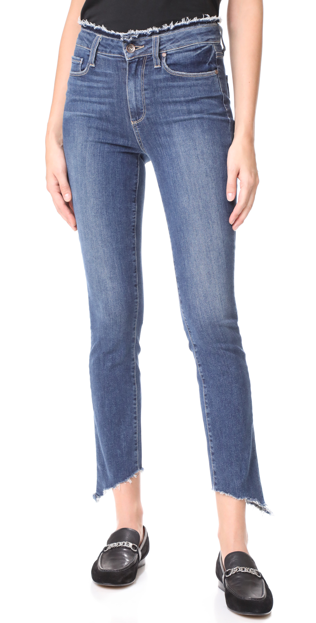 Frayed Hoxton Ankle Peg Jeans PAIGE