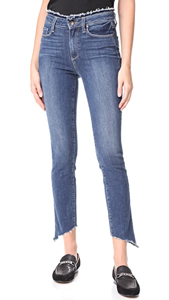 PAIGE Frayed Hoxton Ankle Peg Jeans - Fray with Angled Frayed Hem