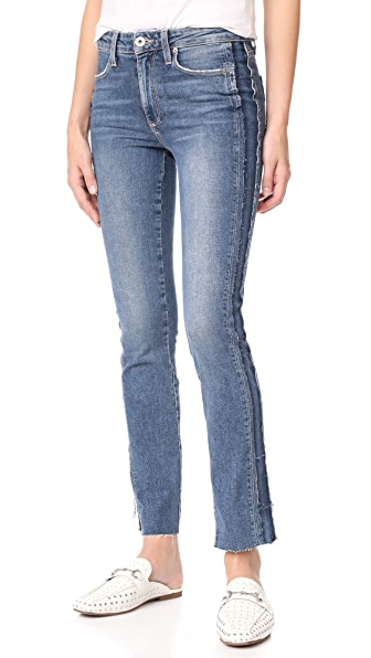 PAIGE Julia Straight Raw Tux Jeans In Dawn Racer