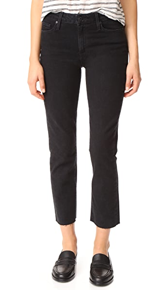 PAIGE Jacqueline Straight Leg Jeans with Raw Hem at Shopbop