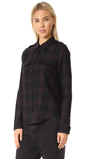 PAIGE Adilene Shirt Velvet Piping