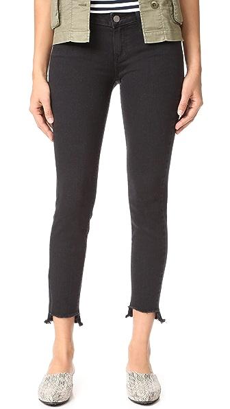 PAIGE Verdugo Ankle Jeans with Uneven Hem