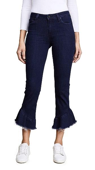 PAIGE Flora Frayed Hem Jeans In Merritt