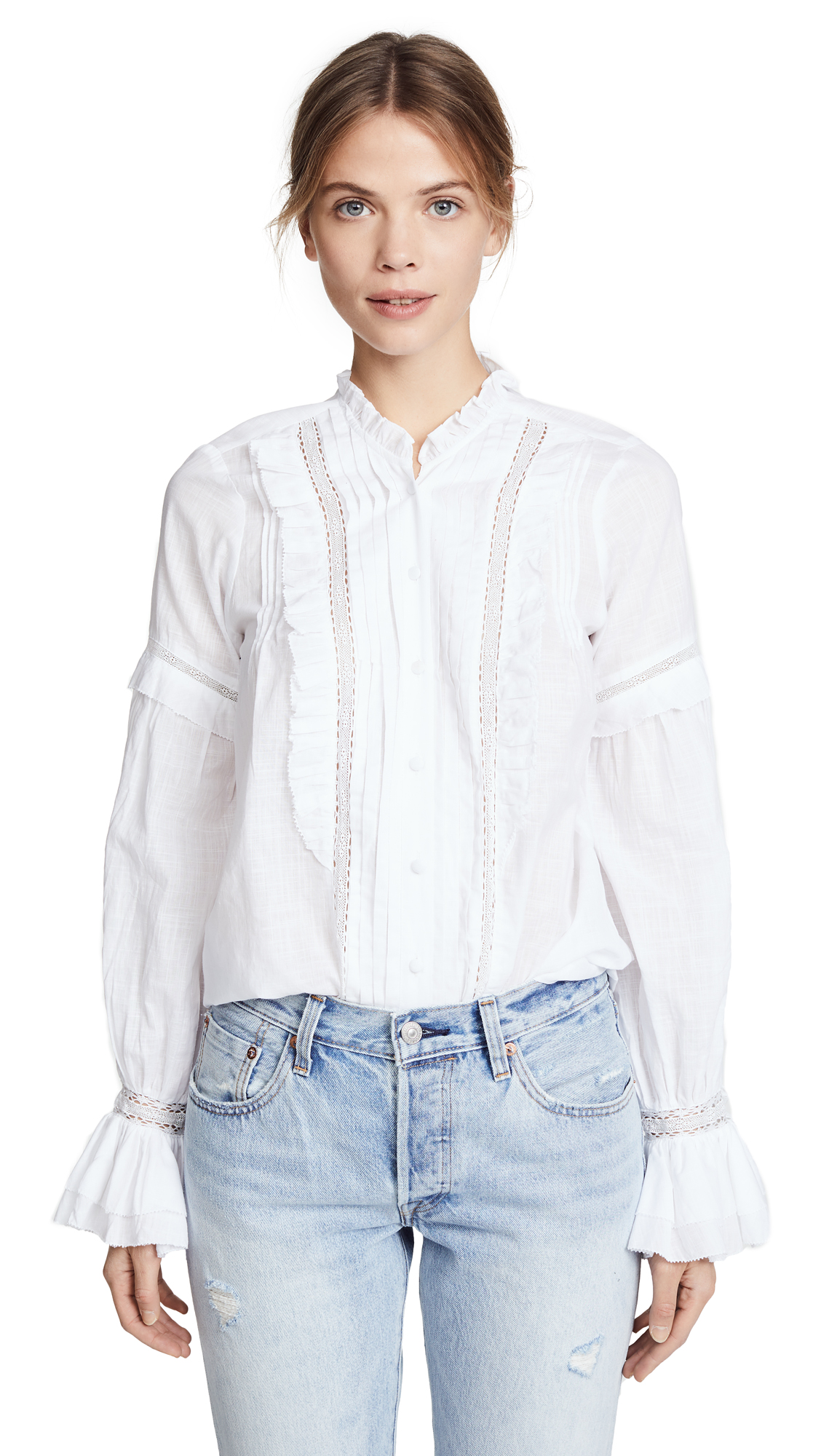 PAIGE Alonza Blouse In White