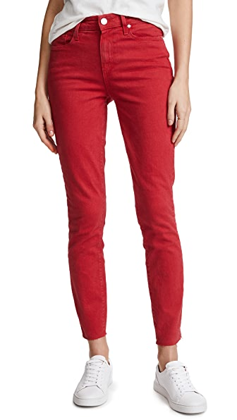 PAIGE Hoxton Ankle Skinny Jeans with Raw Hem at Shopbop