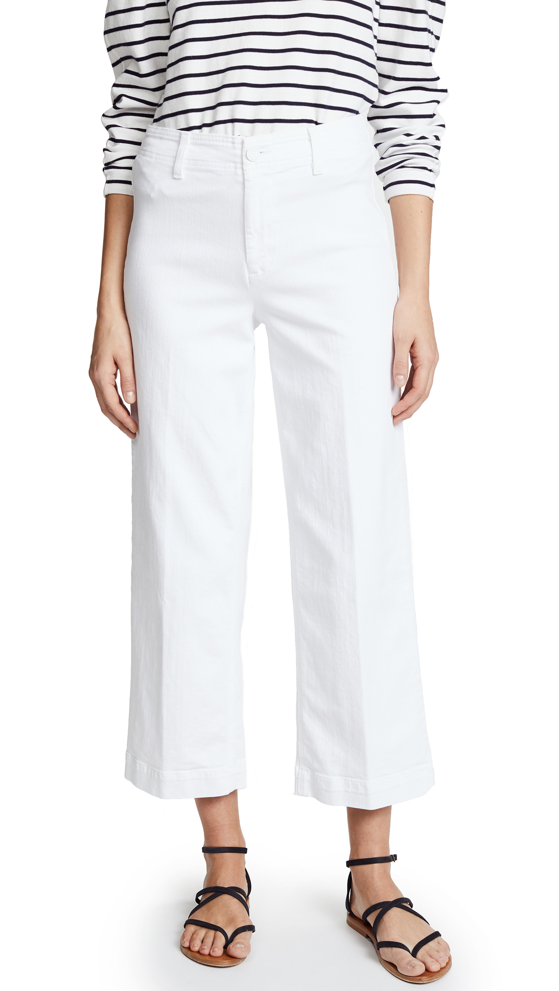 CLEAN-FRONT NELLIE JEANS IN CRISP WHITE