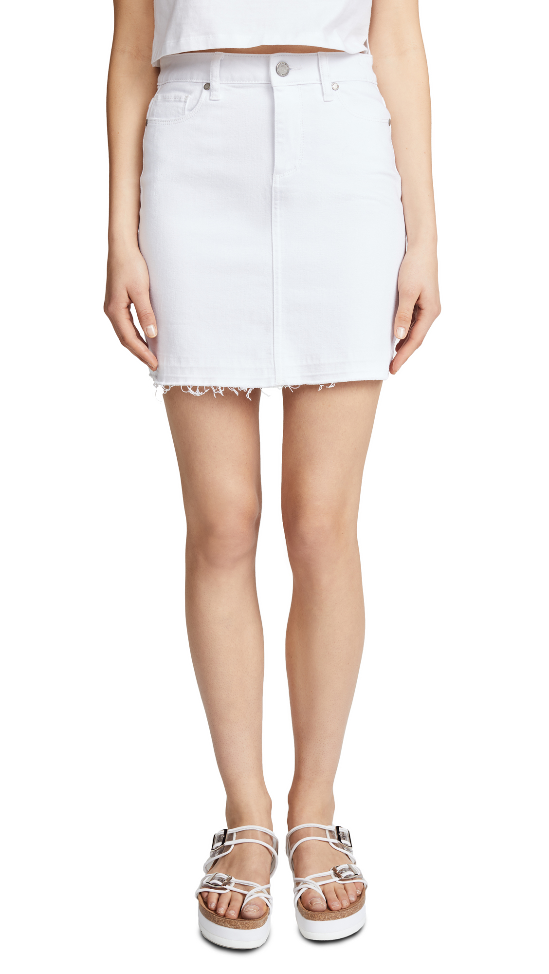 PAIGE Elainia Skirt In Crisp White