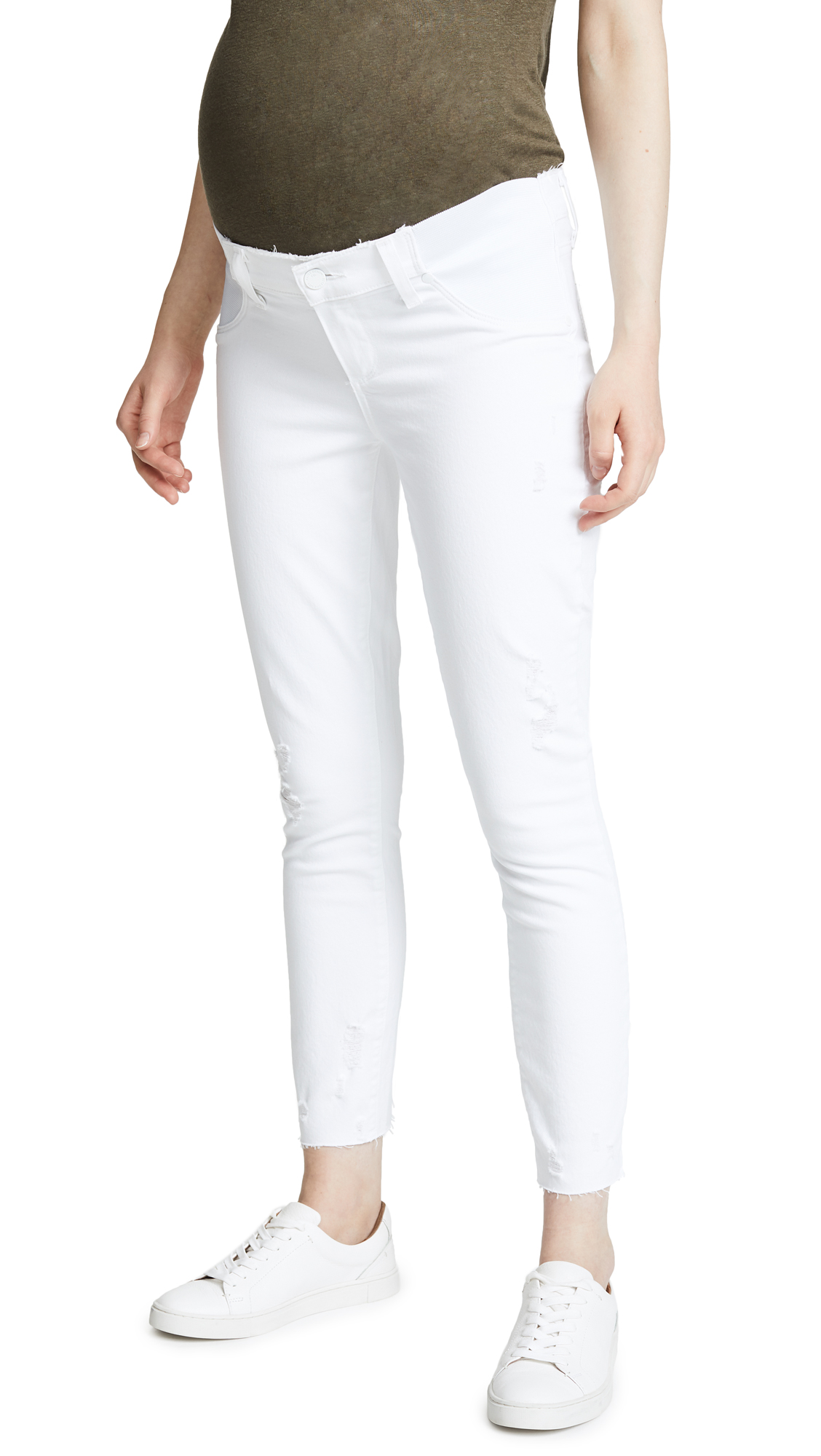 Maternity Verdugo Crop Jeans with Raw Hem