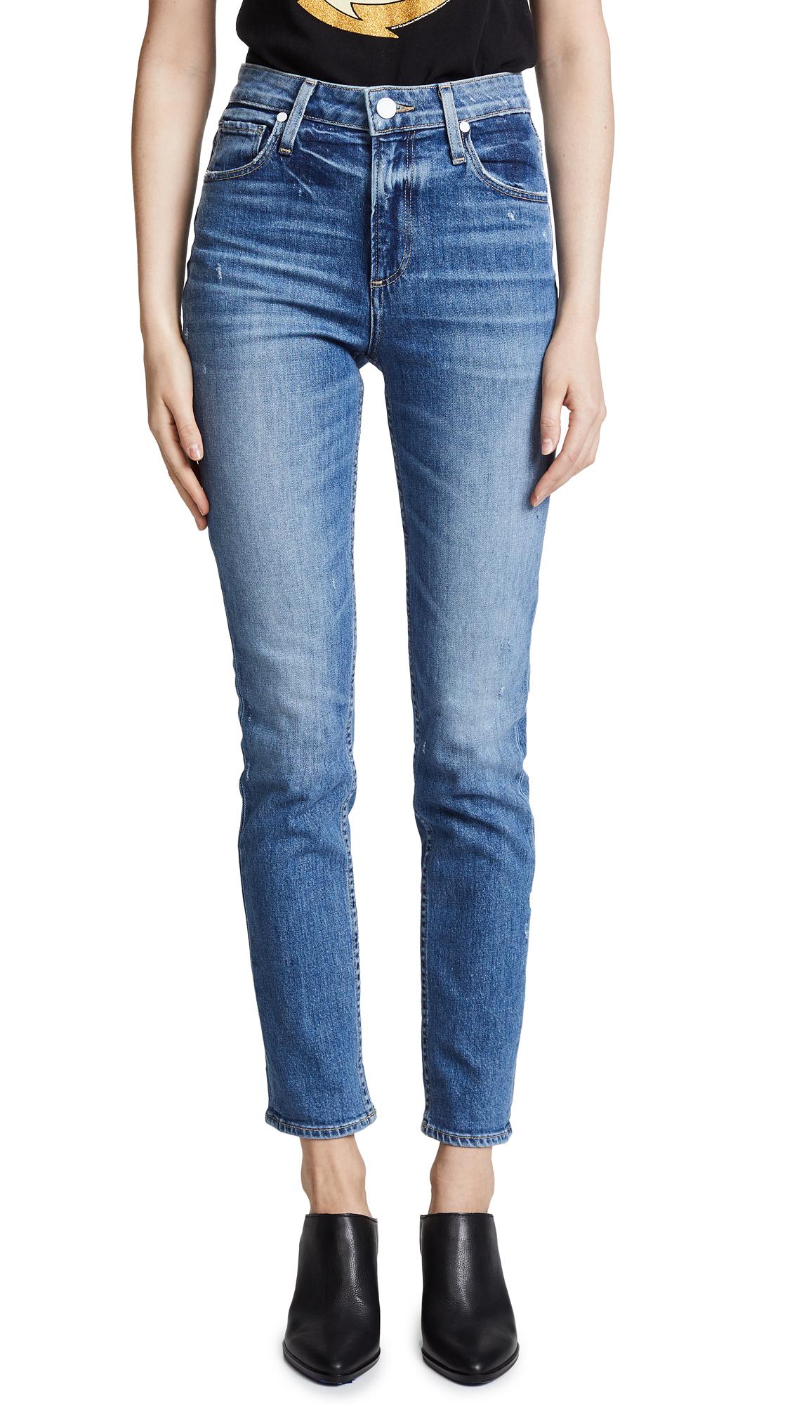 PAIGE High Rise Sarah Slim Jeans In Embarcadero
