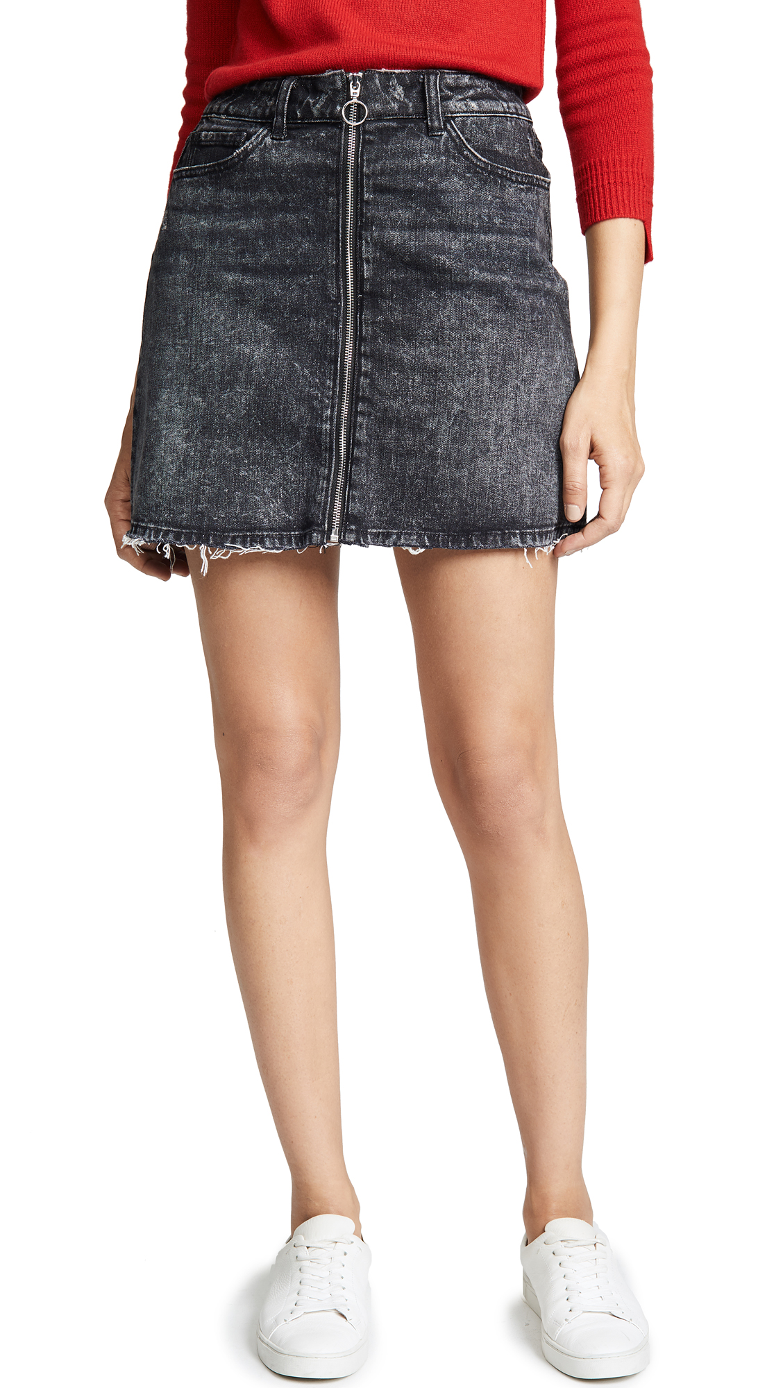 PAIGE Aideen Denim Skirt with O-Ring In Myra