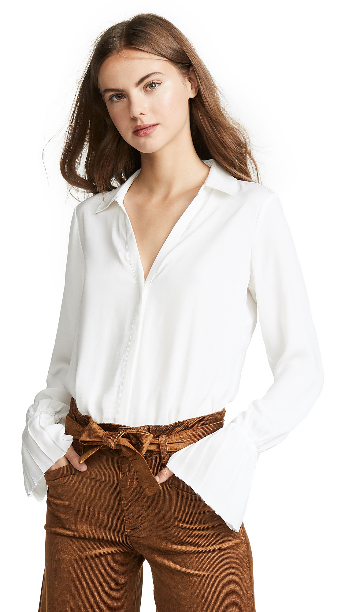 PAIGE Abriana Shirt In White