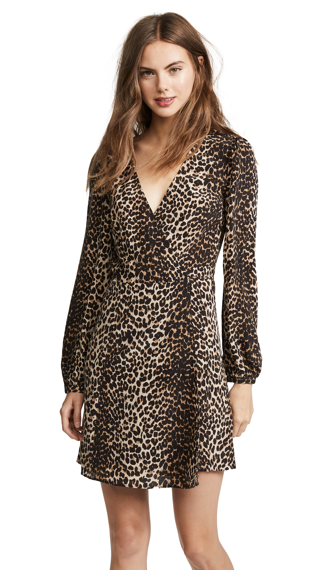 PAIGE Garance Dress In Natural Leopard
